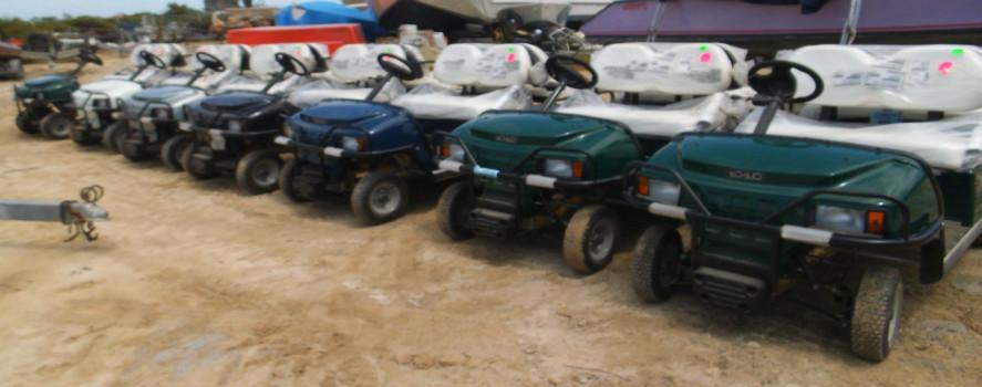 Fleet of XRT850 Golf Carts