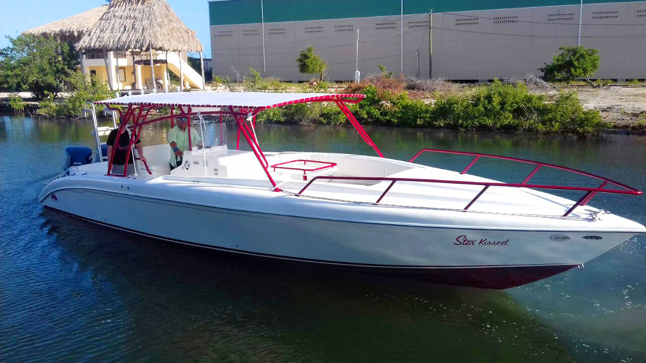 Congratulations to Evan Owens on his new Dorado 34ft Boat