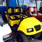 Yellow Precedent Golf Cart