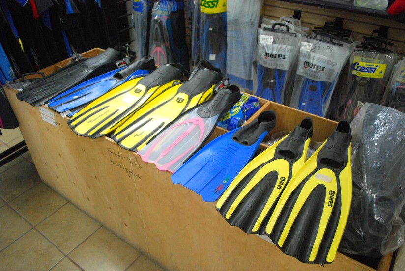 Dive and Snorkel Gear at Captain Sharks