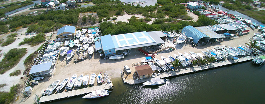 Captain Sharks Boatyad Aerial View