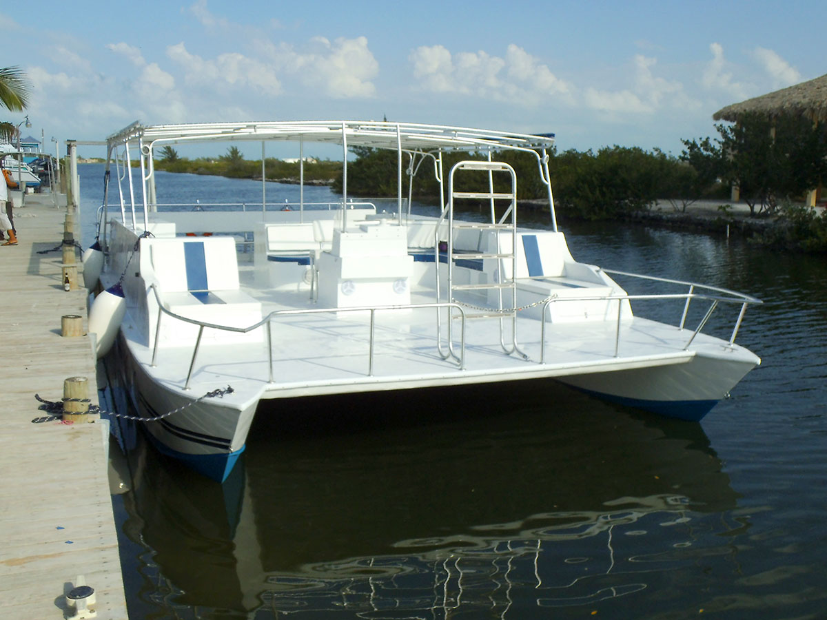 pontoon boat with bathroom - home design