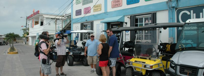 House Hunters filming at Captain Sharks