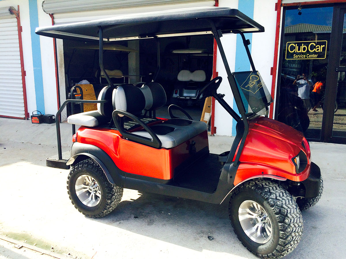 Norma Graniel's Brand New Red Golf Cart