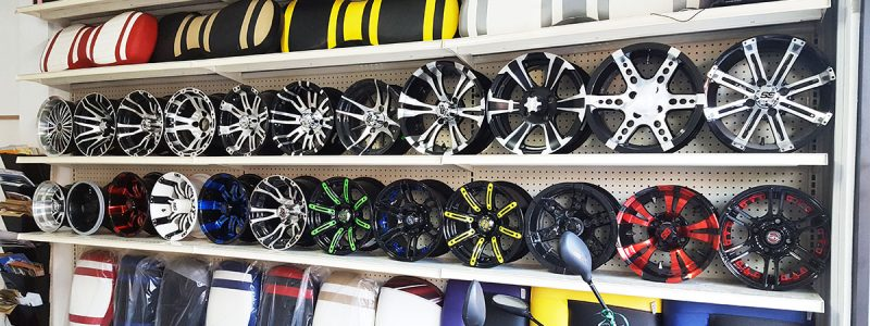 Golf Cart Rims and Seats