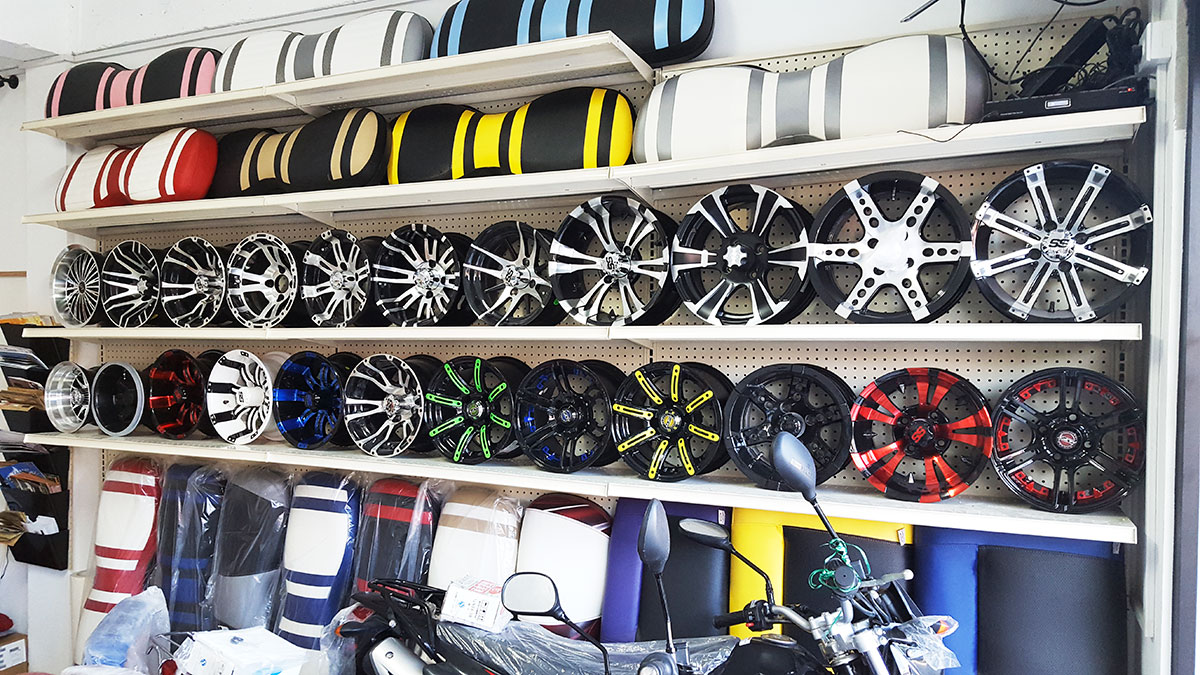 In Stock – New Rims and Seats for Golf Carts