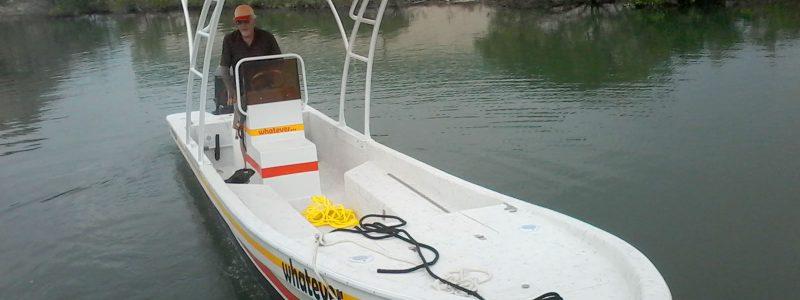 David Bakr Refurbished Boat and Custom T-top by Captain Sharks