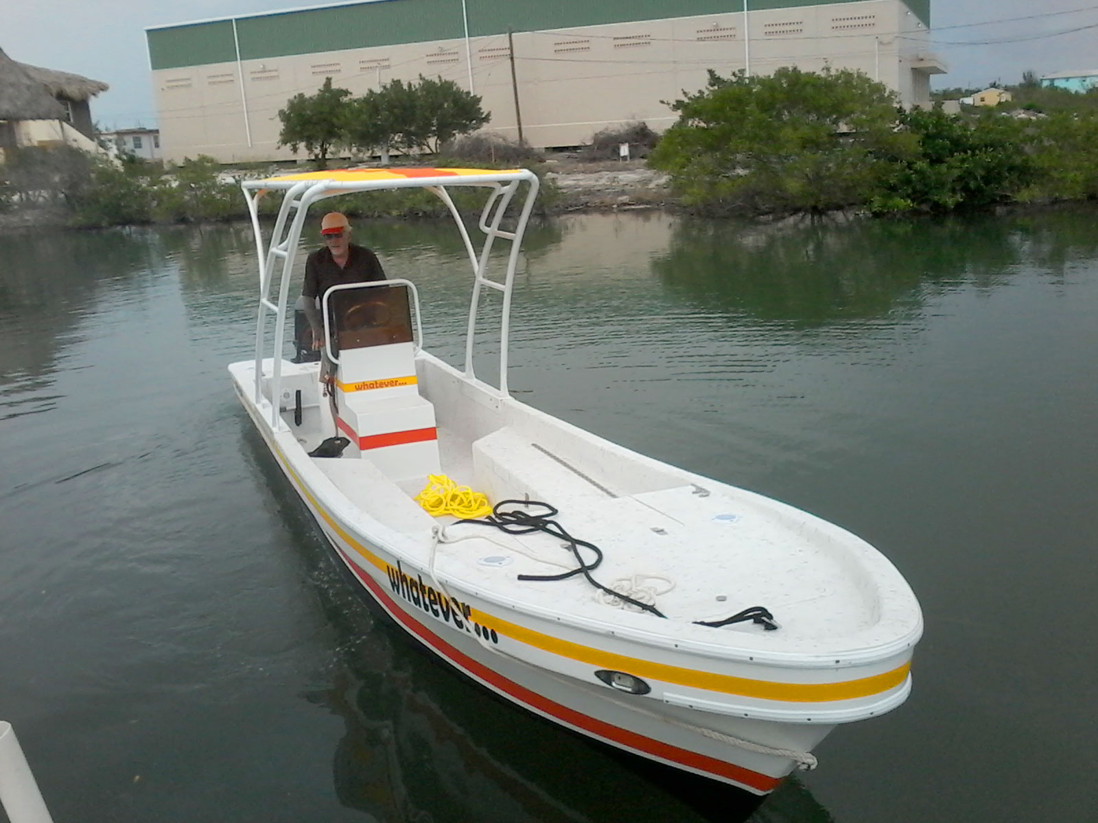 David Bakr Refurbished Boat and Custom T-top by Captain Sharks