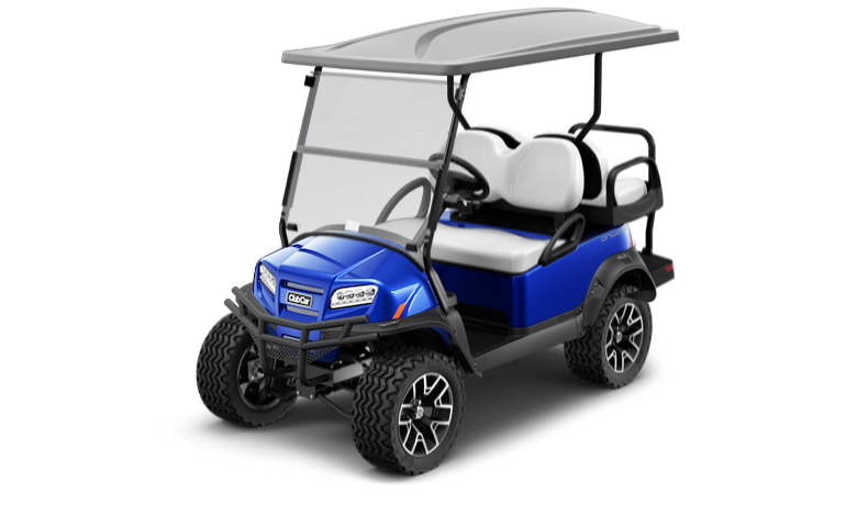 Blue Onward Club Car Golf Cart