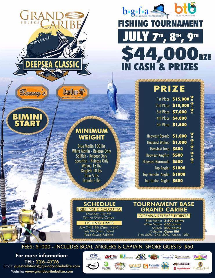 1st Grand Caribe Belize's Deep Sea Classic Fishing Tournament