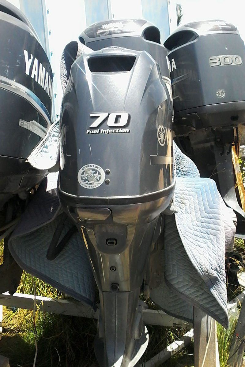 Used 70HP Yamaha 4 Stroke Engine