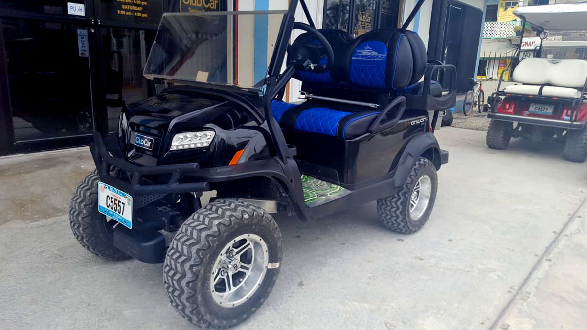 Onward Golf Cart Blue Black