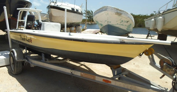 "Used ""Back Lash"" 16ft Flats Boat"