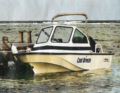 Used 19ft Boston Whaler Boat with engine