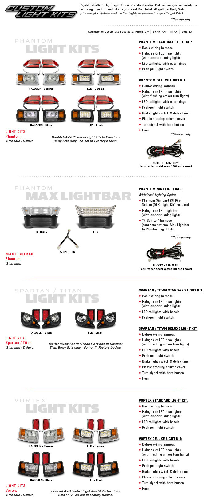 Golf Cart Custom Light Kits