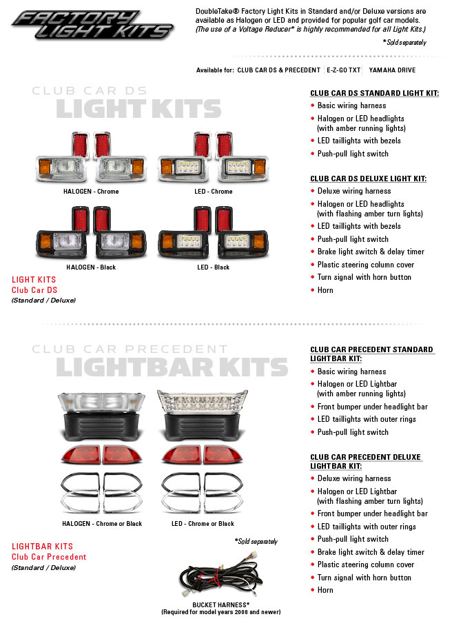 Golf Cart Factory Light Kits