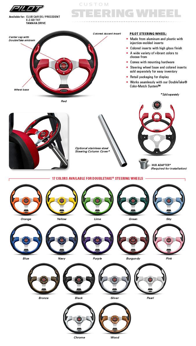 Golf Cart Pilot Steering Wheels