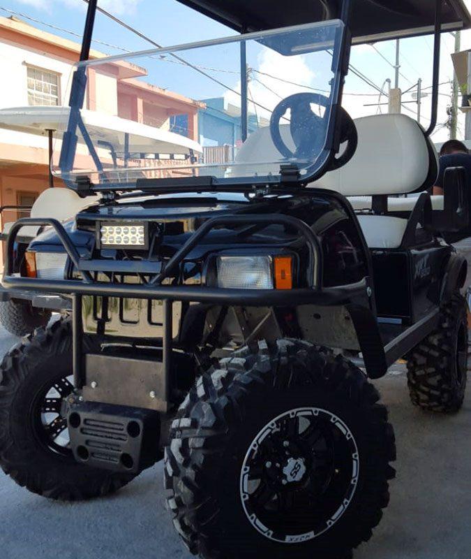 Black XRT Club Car Golf Cart