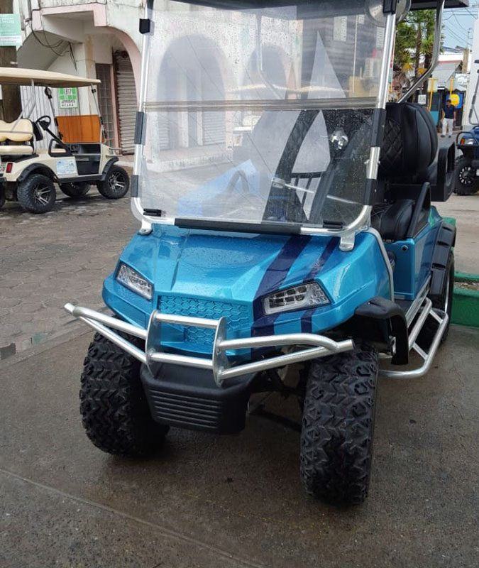 Refurbished Blue Setour Custom Golf Cart