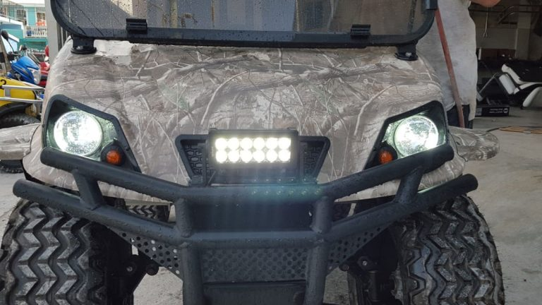 Refurbished Camo Spartan Custom Golf Cart