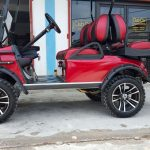 Refurbished Maroon Villager Golf Cart