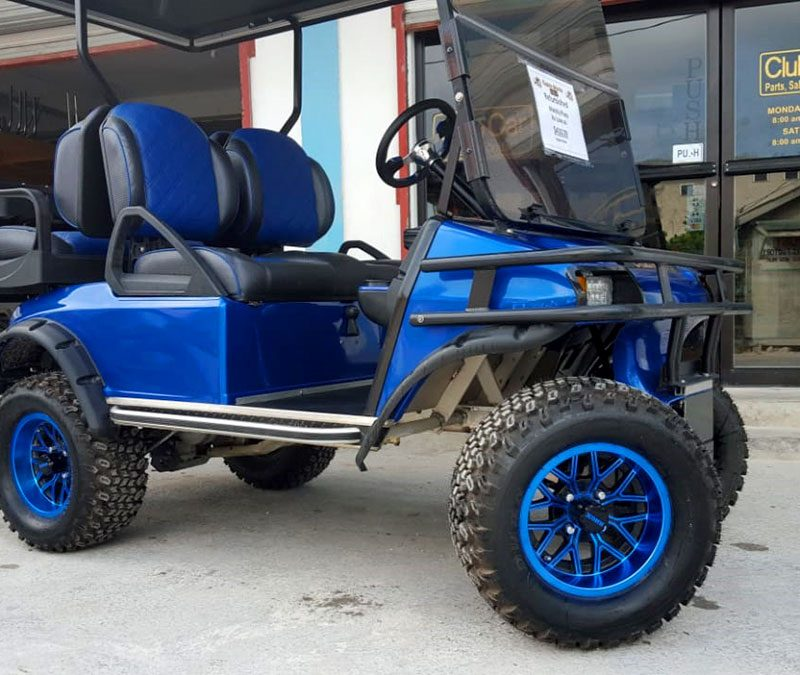 Refurbished Navy Blue Villager Custom Golf Cart