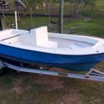 Used 19ft Pelican Boat Blue